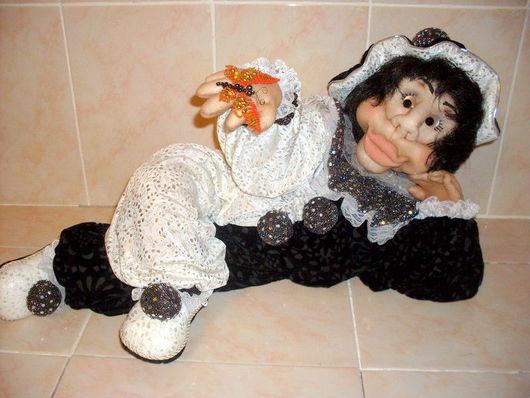 """Коллекционные куклы ручной работы. Ярмарка Мастеров - ручная работа. Купить Кукла """"Черно-белый"""". Handmade. Черный цвет"""