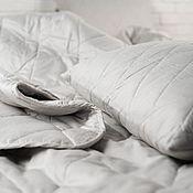 Для дома и интерьера handmade. Livemaster - original item SET of one pillow 50h70 and 1,5 sp blankets with hemp filler. Handmade.