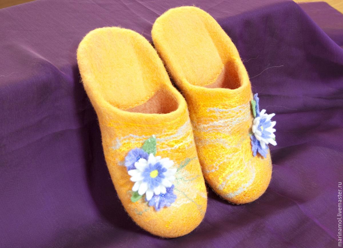Women's felt Slippers 'In the meadow', Slippers, Miass,  Фото №1