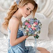 """Одежда ручной работы. Ярмарка Мастеров - ручная работа """"Шепот небес"""" - сорочка нежно-голубого цвета с кружевом шантильи. Handmade."""