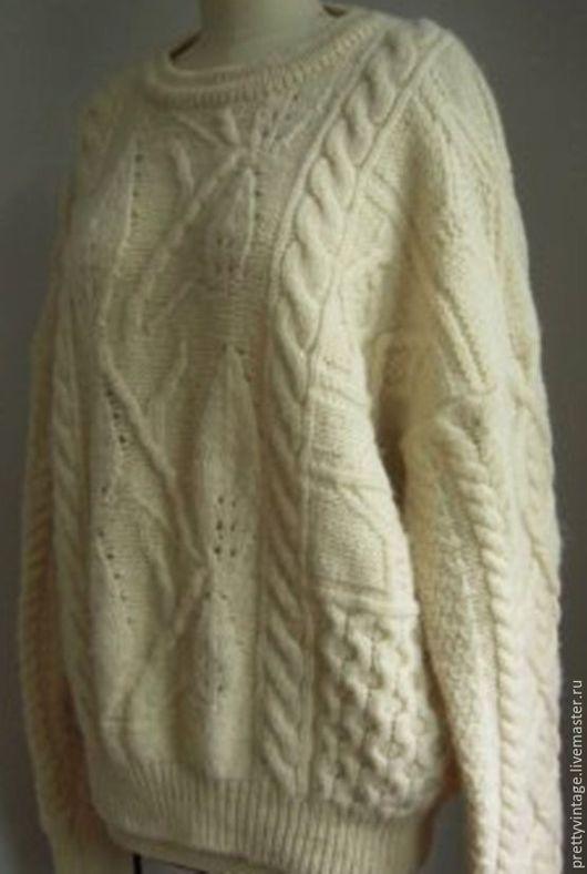 Одежда. Ярмарка Мастеров - ручная работа. Купить 100%Шерсть Ирландия Мужской Свитер. Handmade. Бежевый, изысканные вещицы, 100%шерсть