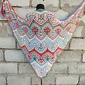 Аксессуары handmade. Livemaster - original item Big Jasmine Shawl made of Cotton Author`s Work. Handmade.