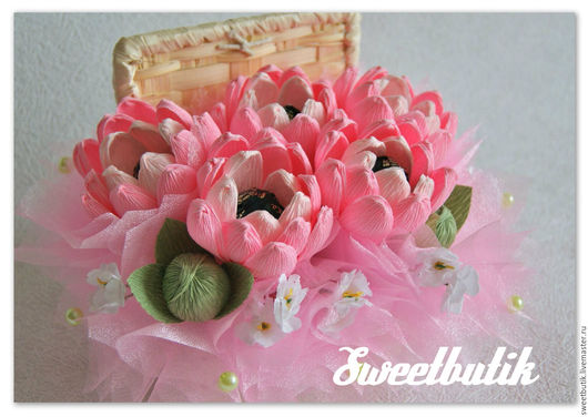 """Букеты ручной работы. Ярмарка Мастеров - ручная работа. Купить Шкатукла """"Хризантемы"""" малая. Handmade. Розовый, подарок на любой случай"""