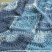 Аксессуары ручной работы. Ярмарка Мастеров - ручная работа Шаль Серо-голубая. Handmade.