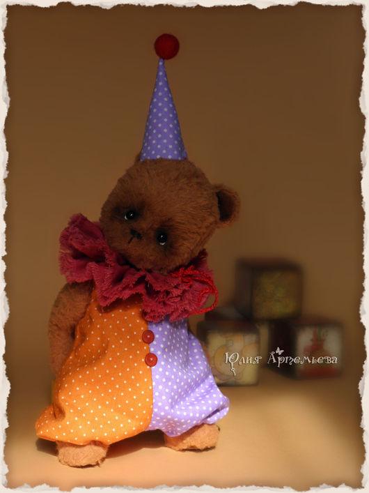 Мишки Тедди ручной работы. Ярмарка Мастеров - ручная работа. Купить Мишка тедди Тим. Маленький клоун. Handmade. Коричневый