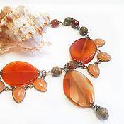 Necklace handmade. Livemaster - original item Necklace with agate. Handmade.