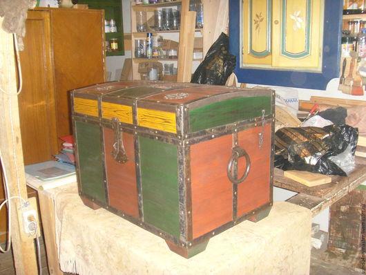 Мебель ручной работы. Ярмарка Мастеров - ручная работа. Купить Сундук старинный.. Handmade. Комбинированный, сундук для приданного