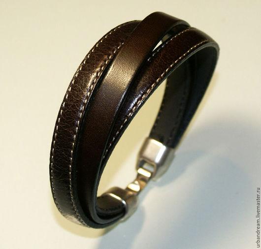 """Украшения для мужчин, ручной работы. Ярмарка Мастеров - ручная работа. Купить Браслет из кожи.Кожаный браслет """"Трио-1"""" (unisex). Handmade."""
