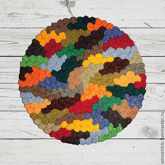 Текстиль, ковры ручной работы. Ярмарка Мастеров - ручная работа. Купить Ковер ручной работы «Осенние аллеи». Handmade. Коврик