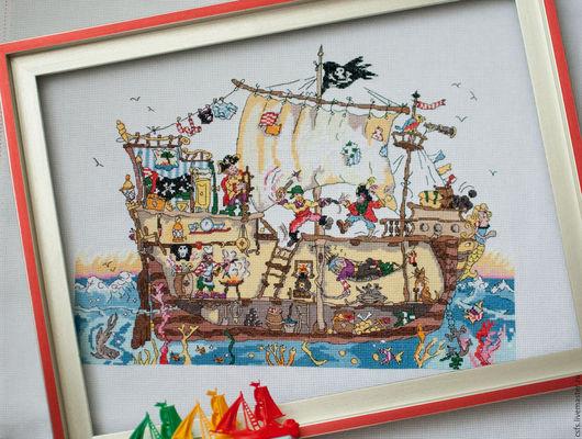 Юмор ручной работы. Ярмарка Мастеров - ручная работа. Купить Пиратский корабль в разрезе. Handmade. Комбинированный, пиратский корабль