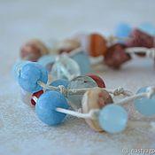 Украшения handmade. Livemaster - original item Long beads on a string Sandy beach. Handmade.