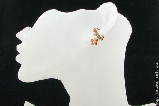 """Каффы ручной работы. Ярмарка Мастеров - ручная работа. Купить Кафф """"Белла"""" (серебро, голд филл, бисер """"MIYUKI"""", кристалл Сваровски). Handmade."""