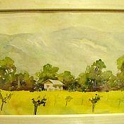 """Картины и панно ручной работы. Ярмарка Мастеров - ручная работа акварель """" Домик в горах"""". Handmade."""