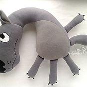 Подарки к праздникам handmade. Livemaster - original item Pillow Wolf. There once was a dog. Handmade.
