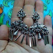 Украшения handmade. Livemaster - original item 223 silver Earrings with stones. Handmade.