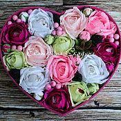 Цветы и флористика ручной работы. Ярмарка Мастеров - ручная работа Букет из конфет в коробке. Handmade.