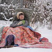 Для дома и интерьера ручной работы. Ярмарка Мастеров - ручная работа Красное одеяло. Handmade.