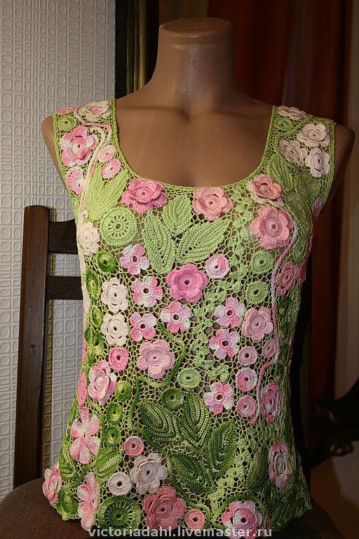 Блузки ручной работы. Ярмарка Мастеров - ручная работа. Купить Блуза из 100% хлопка Нежность. Handmade. Ирландское кружево, ирландия