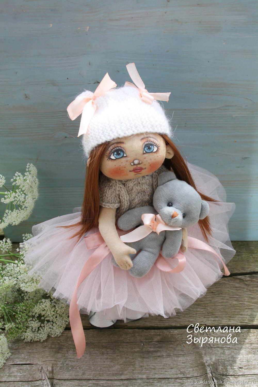 Машенька и мишка. Текстильная кукла ручной работы, Портретная кукла, Пермь,  Фото №1
