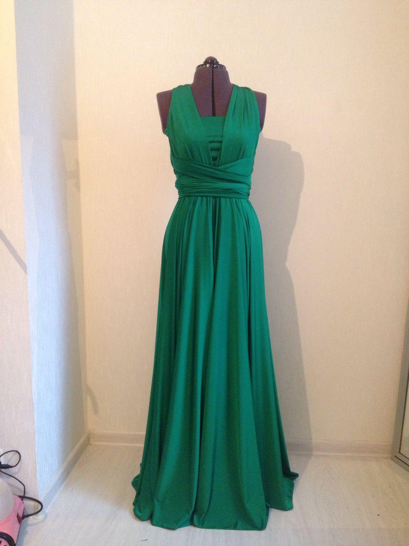 Зелёное платье трансформер