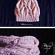 Комплекты аксессуаров ручной работы. Ярмарка Мастеров - ручная работа. Купить Комплект вязаный Розовая Калла,вязаная шапка,вязаный снуд.. Handmade.