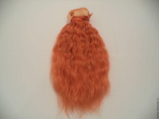 Куклы и игрушки ручной работы. Ярмарка Мастеров - ручная работа. Купить Кукольные волосы (мохер). Handmade. Рыжий, мохер