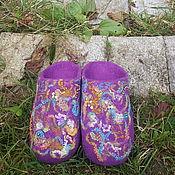 Обувь ручной работы. Ярмарка Мастеров - ручная работа Тапочки валяные Магдалена. Handmade.