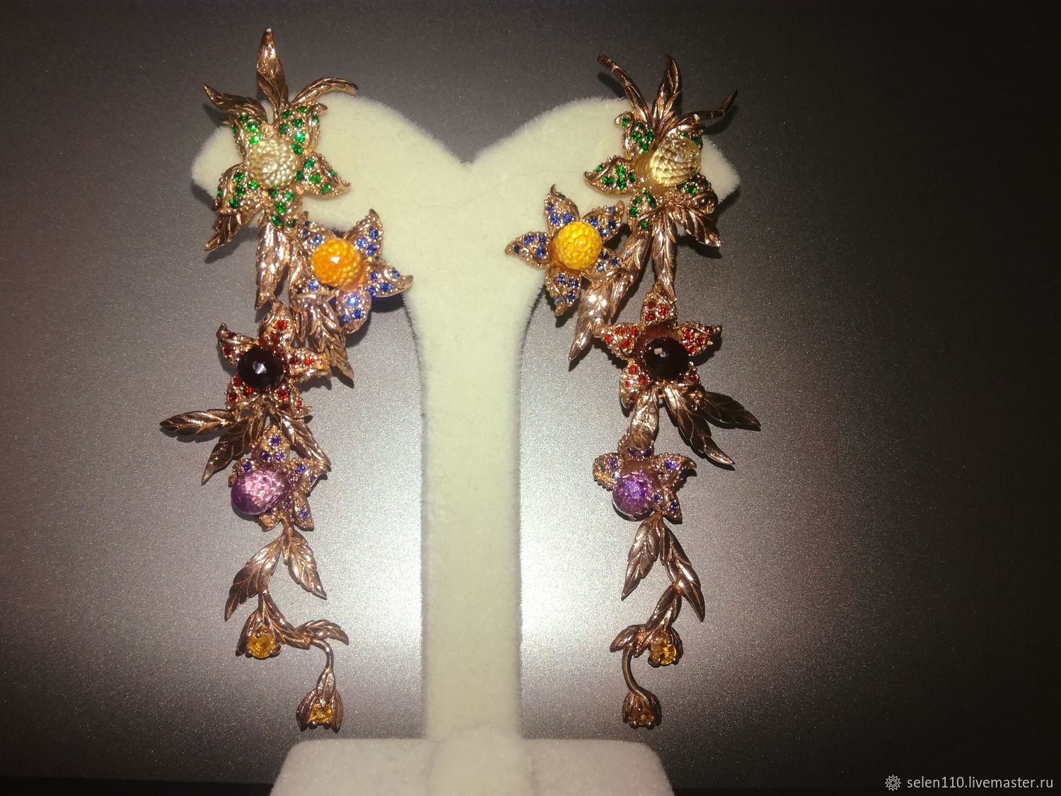 Earrings 'Through the thorns to the stars' with briolettes, Earrings, Voronezh,  Фото №1