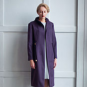 Одежда ручной работы. Ярмарка Мастеров - ручная работа Пальто с цельнокроеной стойкой. Handmade.