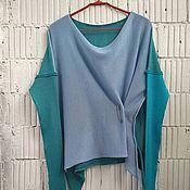 Одежда ручной работы. Ярмарка Мастеров - ручная работа КН_003_ИБГ Блузон 3-хцветный. Handmade.