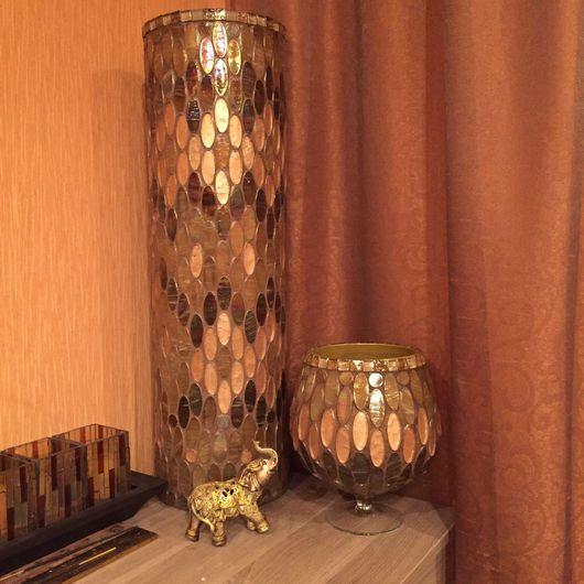 Вазы ручной работы. Ярмарка Мастеров - ручная работа. Купить Напольная ваза 70см Мозаика. Handmade. Ваза, подарок девушке