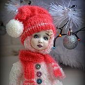 Куклы и игрушки ручной работы. Ярмарка Мастеров - ручная работа Снеговичок. Тедди-долл. Handmade.