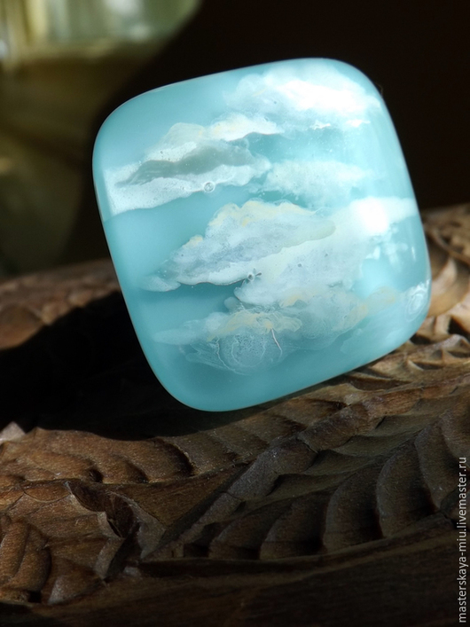 """Кольца ручной работы. Ярмарка Мастеров - ручная работа. Купить кольцо """"Лазурь"""". Handmade. Разноцветный, бохо украшения, небеса"""