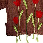 """Одежда ручной работы. Ярмарка Мастеров - ручная работа Джемпер """"Тюльпаны"""". Handmade."""