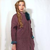 """Одежда ручной работы. Ярмарка Мастеров - ручная работа Пальто облегченное цвета баклажана """" Крайола"""". Handmade."""
