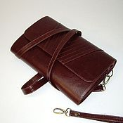 Сумки и аксессуары handmade. Livemaster - original item Small handbag. Leather clutch bag cherry with strochkami.clutch.. Handmade.
