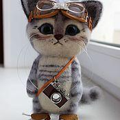 Куклы и игрушки ручной работы. Ярмарка Мастеров - ручная работа Кот пилот. Handmade.
