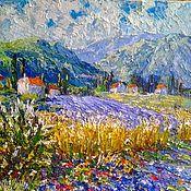 """Картины ручной работы. Ярмарка Мастеров - ручная работа Живописная картина пейзаж """"Цветущий Прованс"""". Handmade."""