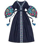 "Одежда handmade. Livemaster - original item Long dress ""Flower Nymph"". Handmade."