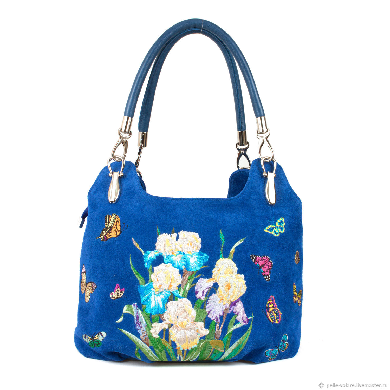 Bag-bag 'Embroidery irises', Sacks, St. Petersburg,  Фото №1