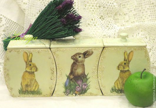 """Кухня ручной работы. Ярмарка Мастеров - ручная работа. Купить Набор для кухни """"Весна"""". Handmade. Салатовый, наборы банок"""