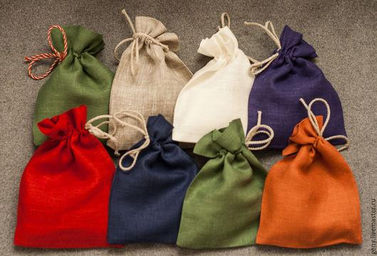 Упаковка ручной работы. Ярмарка Мастеров - ручная работа. Купить Мешочек №5  (средний). Handmade. Бордовый, белый, оранжевый