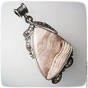 Украшения handmade. Livemaster - original item Petrified wood--filigree pendant. Handmade.