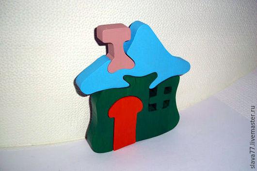 """Развивающие игрушки ручной работы. Ярмарка Мастеров - ручная работа. Купить Деревянный пазл """"Домик"""". Handmade. Пазл, развивающая игрушка"""