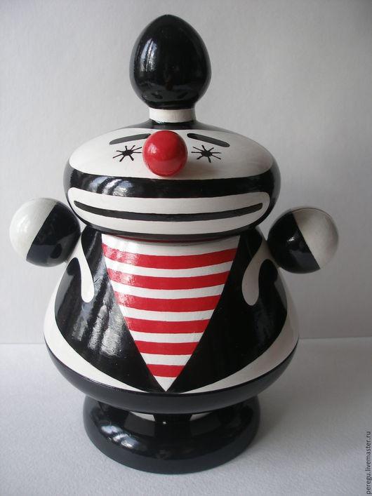 Персональные подарки ручной работы. Ярмарка Мастеров - ручная работа. Купить клоун. Handmade. Чёрно-белый, дизайн, персональный подарок