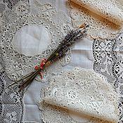 Набор старинных салфеток -коклюшечное кружево по типу мальтийского