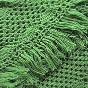 Аксессуары handmade. Livemaster - original item KELLY Crochet shawl 200*100 cm triangular with tassels e. .03. Handmade.