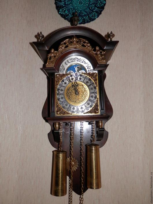 Винтажные предметы интерьера. Ярмарка Мастеров - ручная работа. Купить Настенные, старинные  часы с боем Голландия. Handmade. Часы, бронза