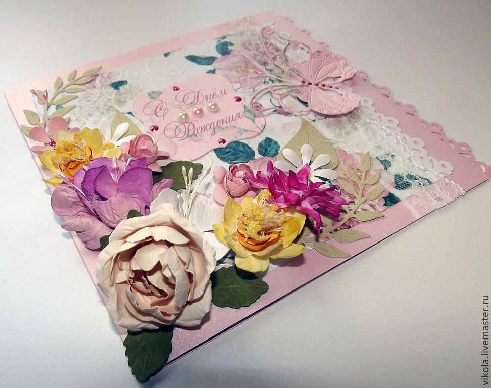 Открытки ручной работы с розами