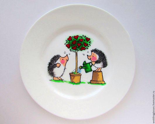 Подарки для влюбленных ручной работы. Ярмарка Мастеров - ручная работа. Купить Подарочная тарелочка на День влюбленных. Handmade. Комбинированный